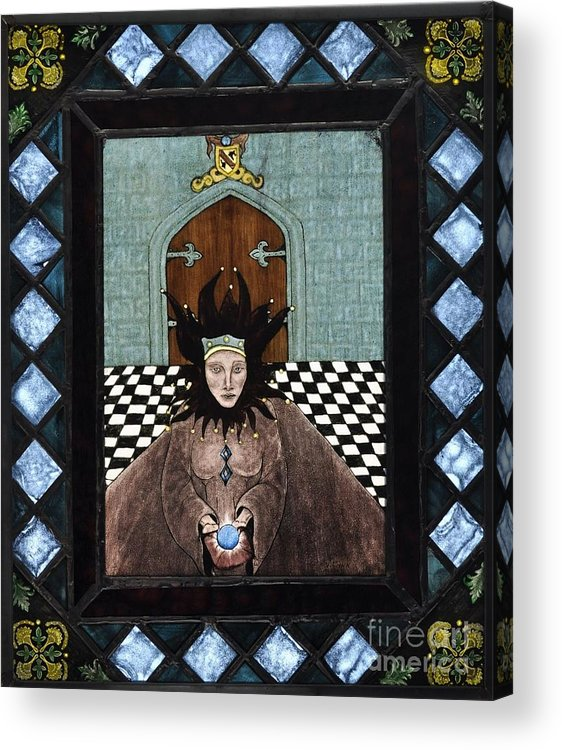 Castle Acrylic Print featuring the painting Court Jester by Valerie Lynn