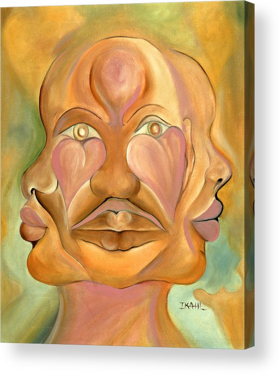 Human Acrylic Print featuring the painting Faces Of Copulation by Ikahl Beckford