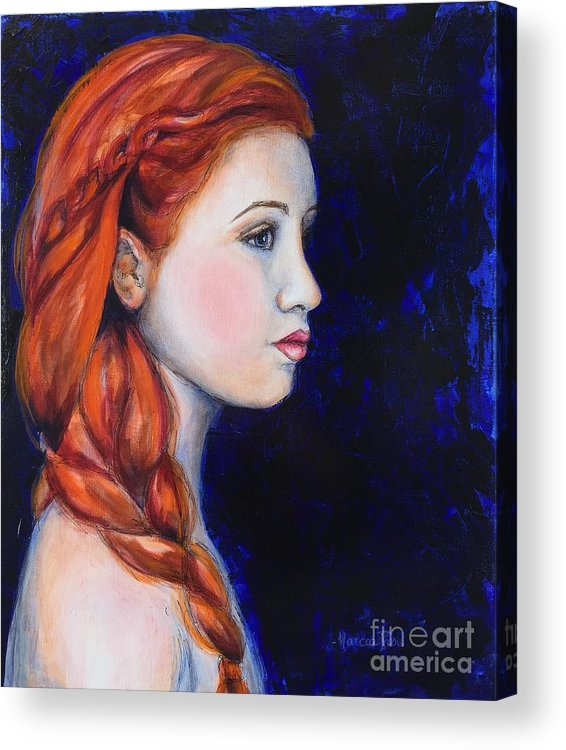 Woman Acrylic Print featuring the painting Fire And Ice by Marcia Davis