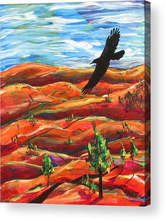 Bird Acrylic Print featuring the painting Free As A Bird by Rollin Kocsis