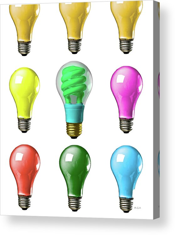 Business Acrylic Print featuring the photograph Light Bulbs Of A Different Color by Bob Orsillo