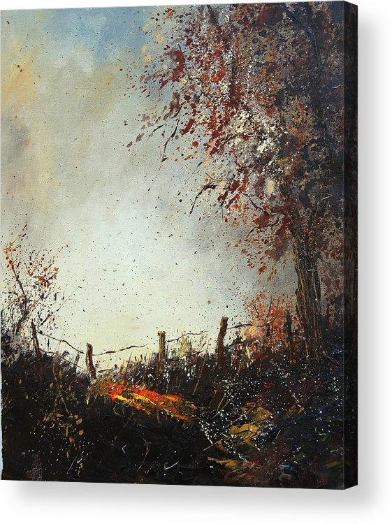 Tree Acrylic Print featuring the painting Light In Autumn by Pol Ledent
