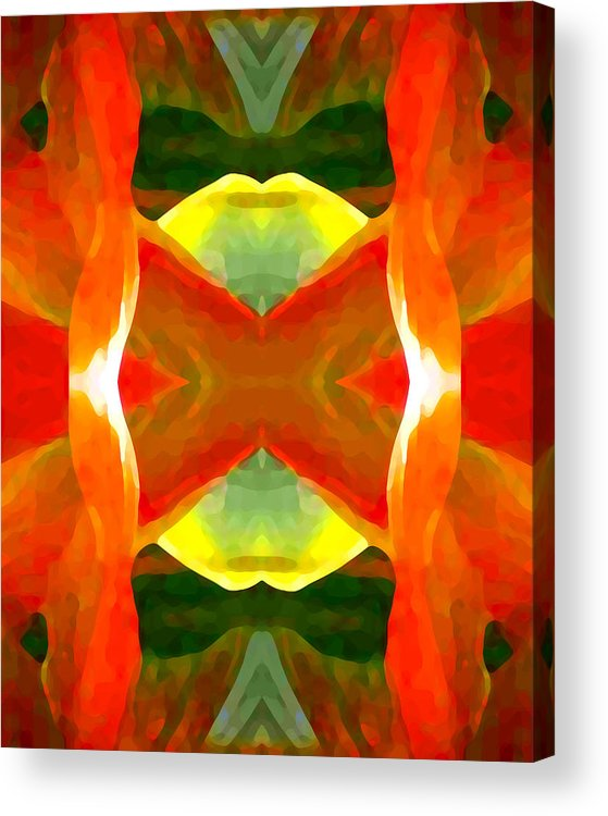 Abstract Acrylic Print featuring the painting Meditation by Amy Vangsgard