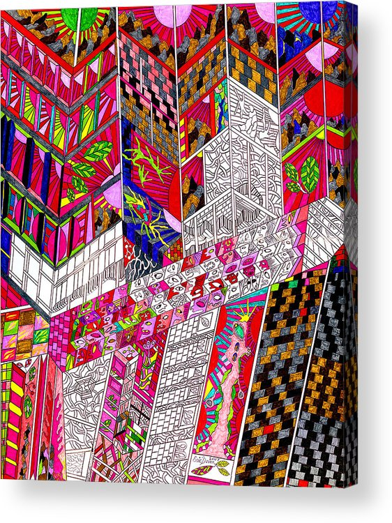 City Acrylic Print featuring the drawing Metropoloitan Morning by Eric Devan