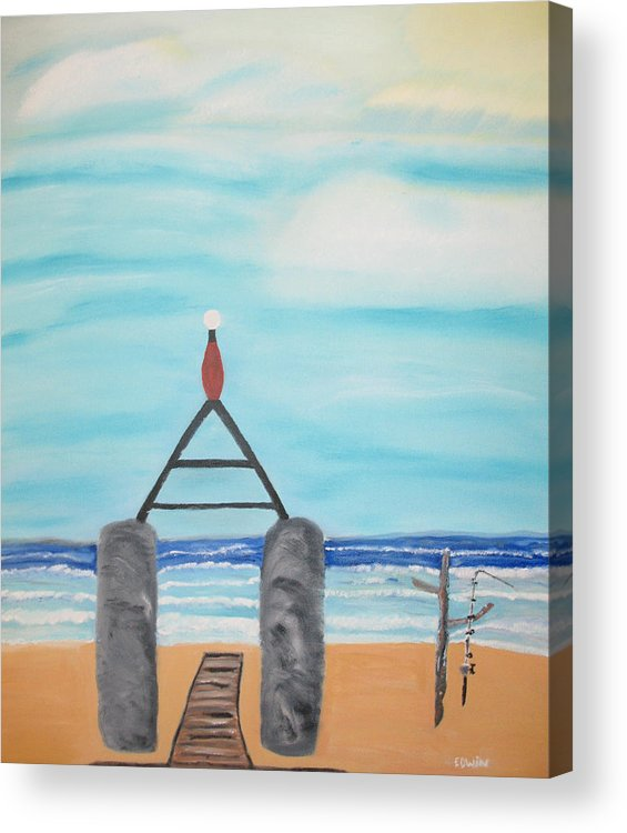 Vacation Acrylic Print featuring the painting My Beach by Edwin Long