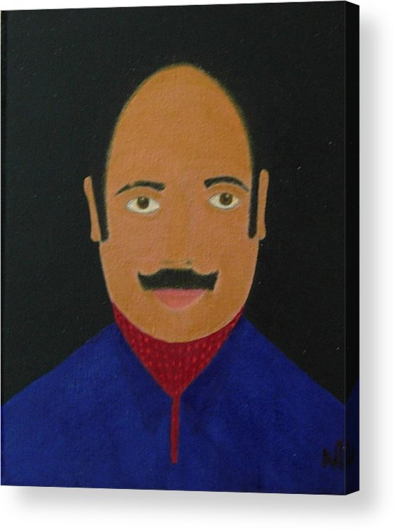 Portrait Study Acrylic Print featuring the painting No. 329 by Vijayan Kannampilly