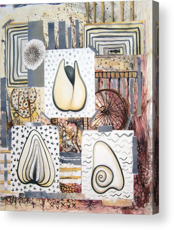 Abstract Acrylic Print featuring the painting Nuts by Valerie Meotti