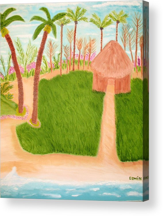 Vacation Acrylic Print featuring the painting Phillipine Vacation by Edwin Long