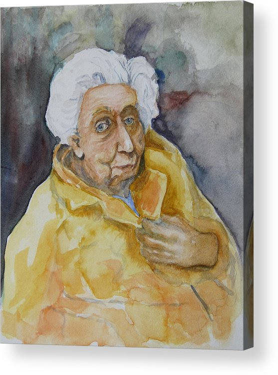 Portrait Acrylic Print featuring the painting Portrait Of Eudora Welty  by Dan Earle