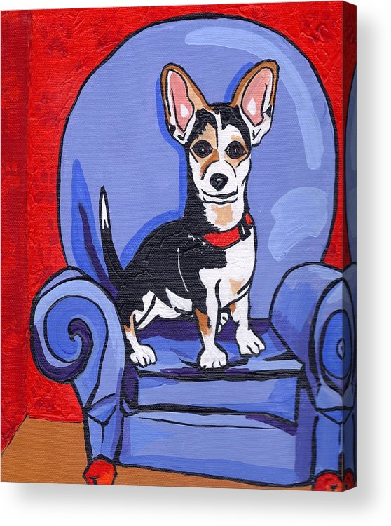 Dog Acrylic Print featuring the painting Queen Lucy by Laura Brightwood