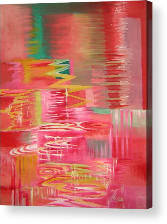 Abstract Acrylic Print featuring the painting Ripples No.3 by Lian Zhen