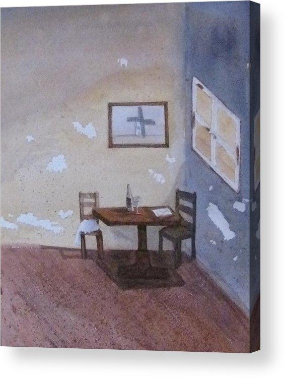 Table Acrylic Print featuring the painting Room by Amanda Burek