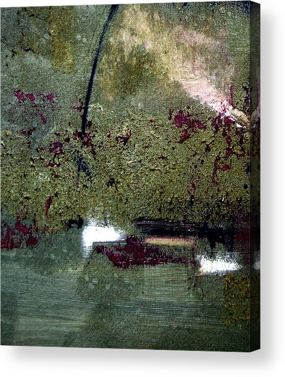 Abstract Acrylic Print featuring the painting Sage And Plum by Ruth Palmer