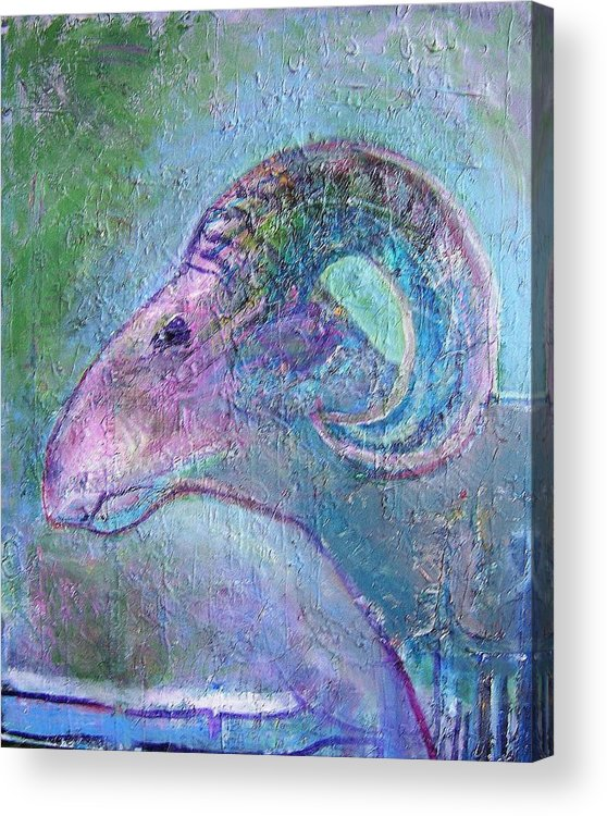 Sheep Animals Acrylic Print featuring the painting Sheep by Dave Kwinter