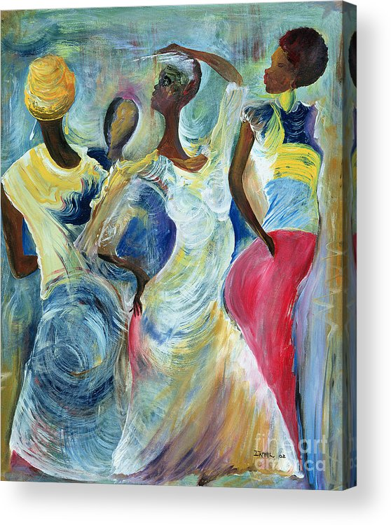 African Acrylic Print featuring the painting Sister Act by Ikahl Beckford