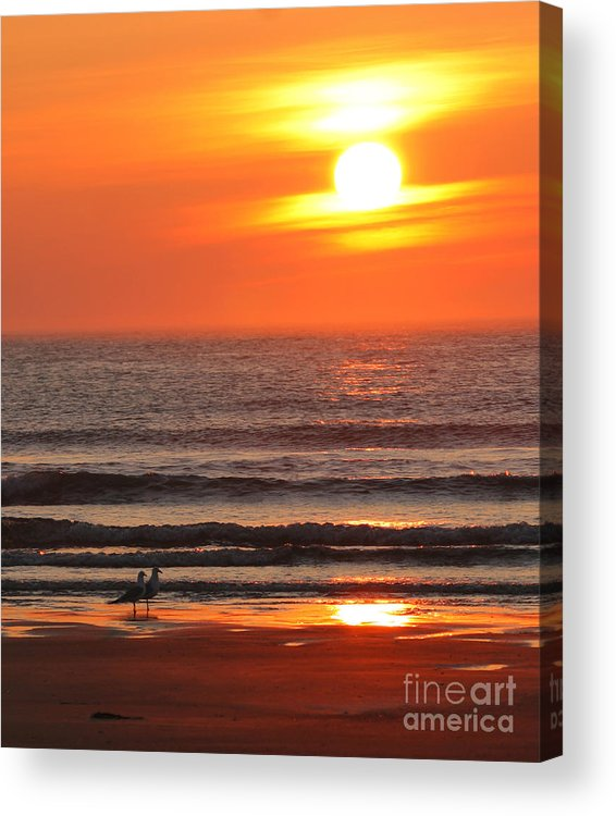 Ocean Acrylic Print featuring the photograph Sunrise On The Oceanside by Max Allen