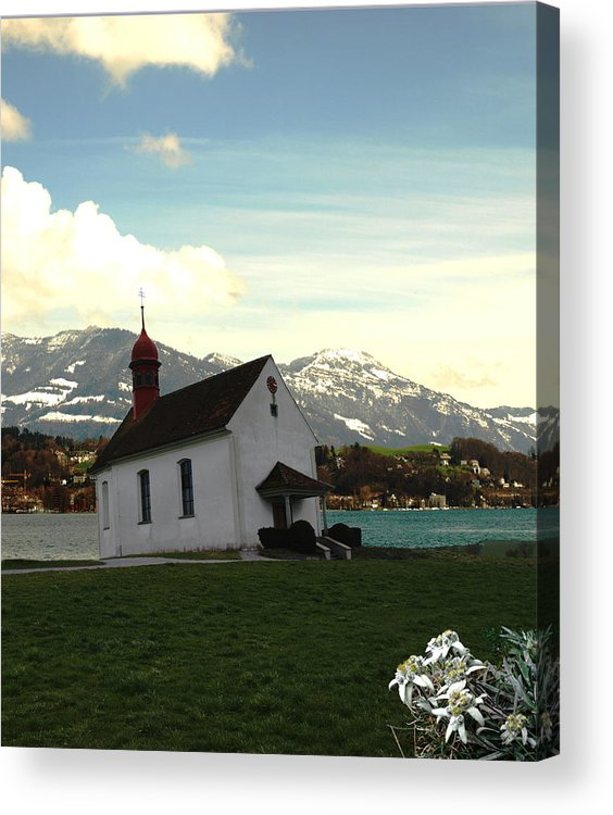 Spring Acrylic Print featuring the photograph Swiss Hope by Chuck Shafer