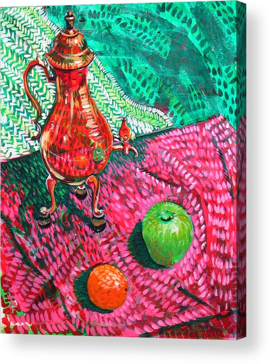 Still Life Acrylic Print featuring the painting Teapot by Rollin Kocsis