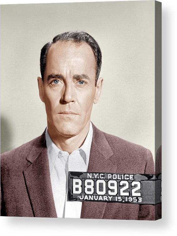 1950s Portraits Acrylic Print featuring the photograph The Wrong Man, Henry Fonda, 1956 by Everett