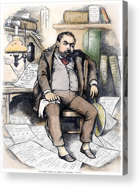1879 Acrylic Print featuring the photograph Thomas Nast (1840-1902) by Granger