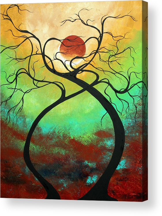 Landscape Acrylic Print featuring the painting Twisting Love II Original Painting By Madart by Megan Duncanson