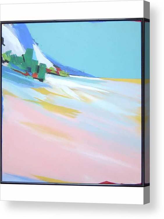 Abstracted Landscape Acrylic Print featuring the painting Untitled Landscape by Marston A Jaquis