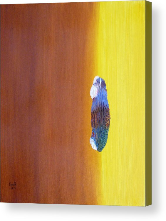 Painting Acrylic Print featuring the painting Up To The Top by Greg Gierlowski
