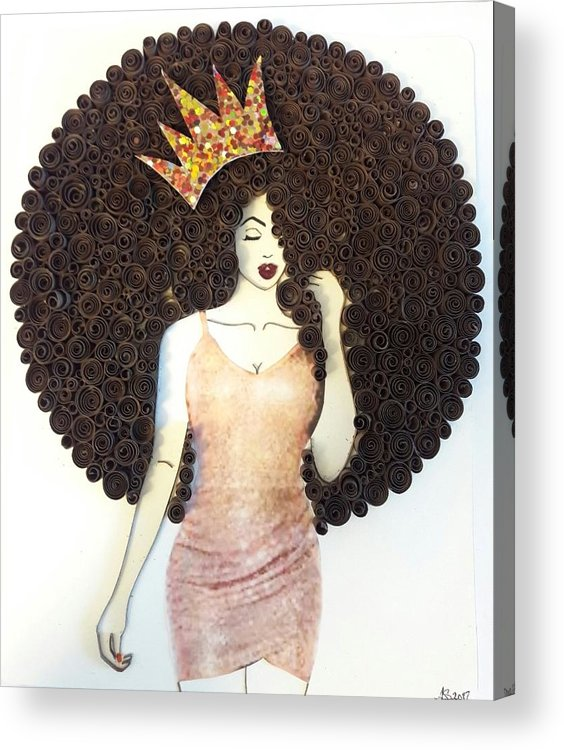 Acrylic Print featuring the mixed media Valencia by Quillqueen Andrea Stevens