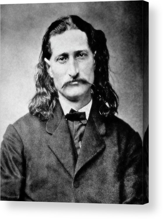 wild Bill Acrylic Print featuring the photograph Wild Bill Hickok - American Gunfighter Legend by Daniel Hagerman