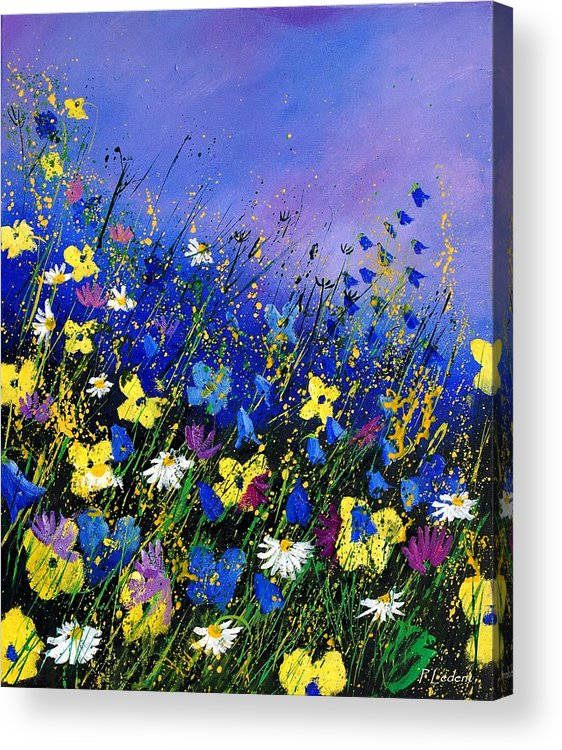 Flowers Acrylic Print featuring the painting Wild Flowers 560908 by Pol Ledent