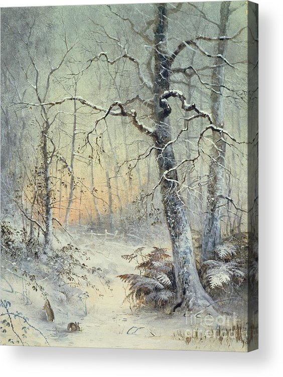 Winter Acrylic Print featuring the painting Winter Breakfast by Joseph Farquharson