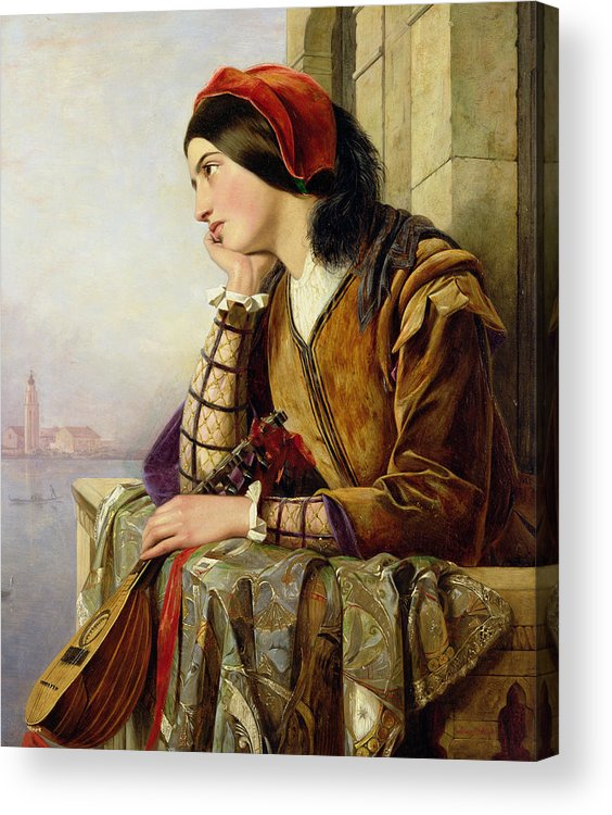 Woman In Love Acrylic Print featuring the painting Woman In Love by Henry Nelson O Neil
