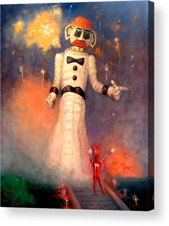 Realism Acrylic Print featuring the painting Zo-zobra by Donelli DiMaria