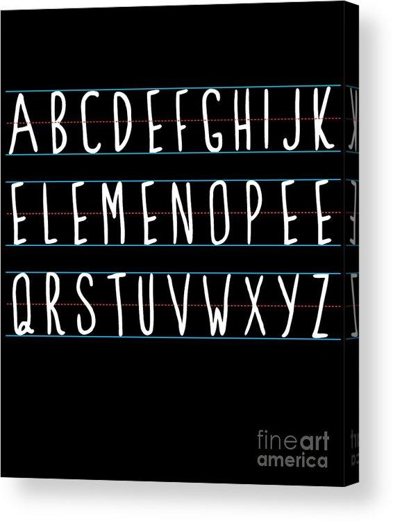 Cool Acrylic Print featuring the digital art Alphabet Elemeno by Flippin Sweet Gear