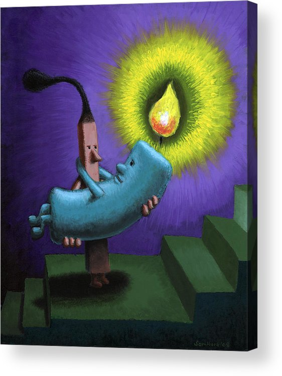 Candle Acrylic Print featuring the painting Hope by Sam Hurt