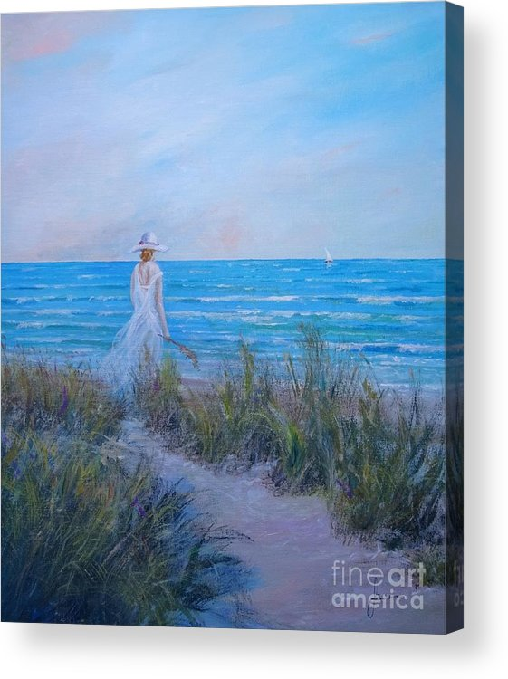 Coast Acrylic Print featuring the painting Ocean Breeze by Sinisa Saratlic