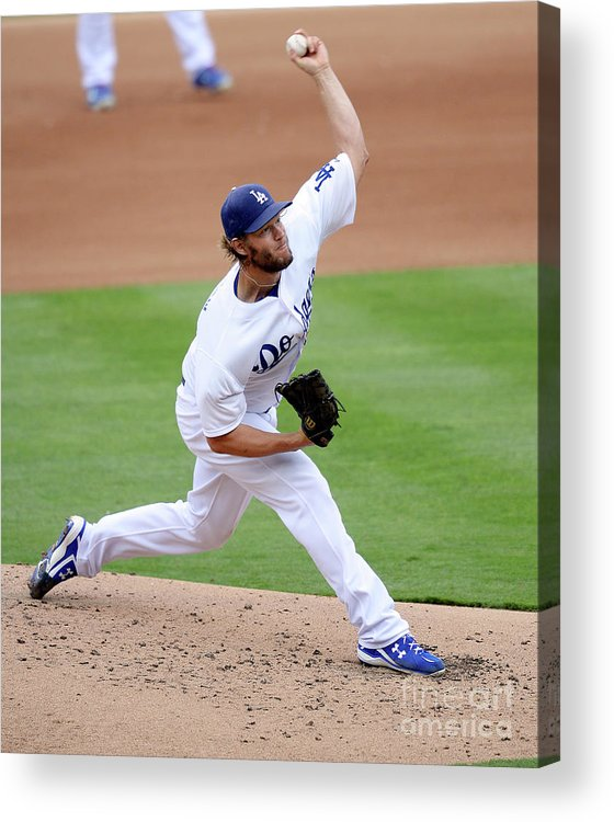 People Acrylic Print featuring the photograph San Diego Padres V Los Angeles Dodgers by Kevork Djansezian