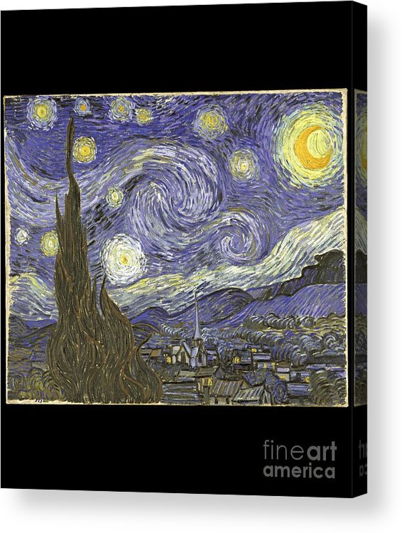 Cool Acrylic Print featuring the digital art Van Goh Starry Night by Flippin Sweet Gear