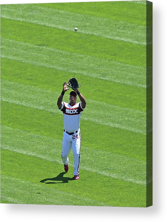 American League Baseball Acrylic Print featuring the photograph Dayan Viciedo by Jonathan Daniel
