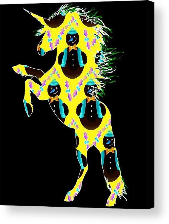 Unicorn Easter Acrylic Print featuring the digital art Unicorn 39 by Kaylin Watchorn