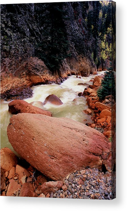 Landscapes Acrylic Print featuring the photograph Canyon Creek Ouray Colorado by Tom Fant