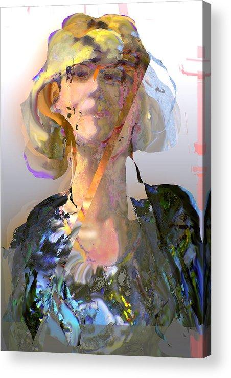 Portrait Acrylic Print featuring the mixed media Olga by Noredin Morgan