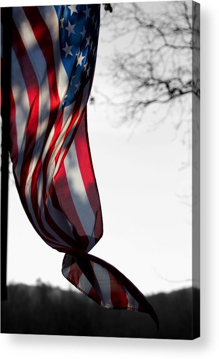 Flag Acrylic Print featuring the photograph Colors In The Wind by Lisa Johnston