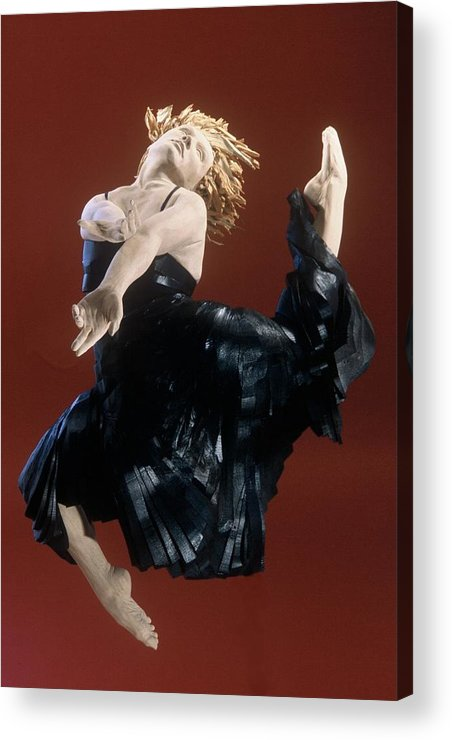 Dance Acrylic Print featuring the sculpture Persephones Dance Front View by Gordon Becker