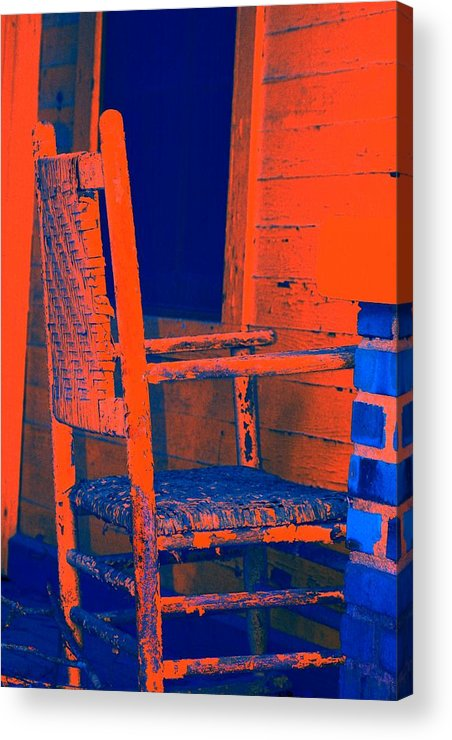 Chair Acrylic Print featuring the digital art Rocking Chair by Lisa Johnston