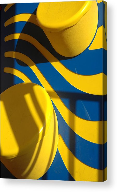 Yellow Acrylic Print featuring the photograph Swirls Of Fun by Mickie Boothroyd