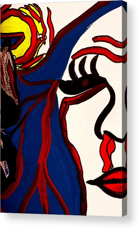 Abstract Acrylic Print featuring the print The Vision by William Watson