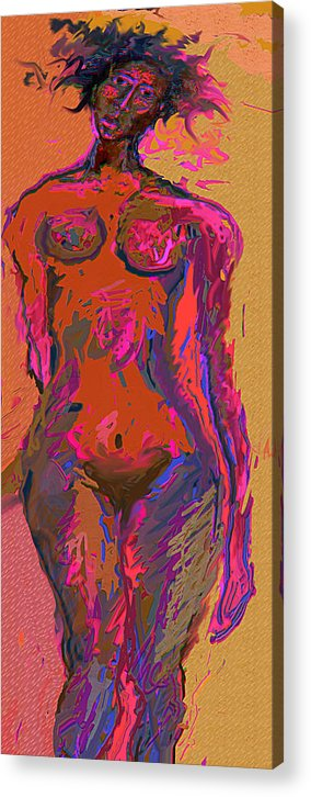 Nude Acrylic Print featuring the mixed media M.p.rejection by Noredin Morgan