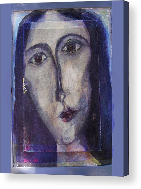 Portrait Acrylic Print featuring the mixed media Coptic by Noredin Morgan