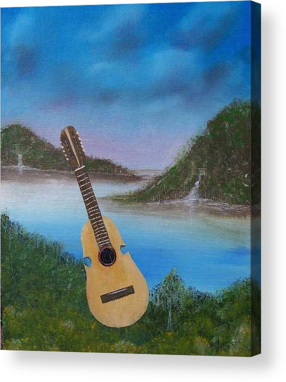 Cuatro Series Acrylic Print featuring the painting Cuatro by Tony Rodriguez